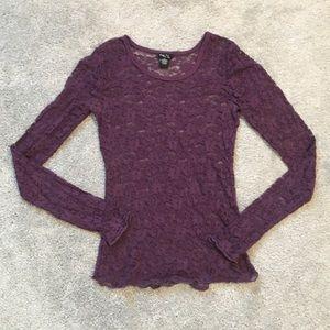 Rue 21 small purple long sleeve top